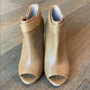 Splendid brand peep toe booties